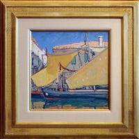 chioggia boats [sold] by jane peterson